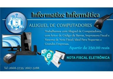 Aluguel de Computador + Impressora + Leitor + NFE + NFCE
