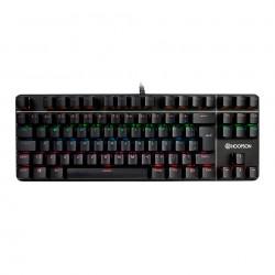 Teclado Mecânico Gamer Hoopson, LED, Switch Outemu Blue, ABNT2 - MJ87B