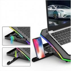 Base GAMER RGB para notebook c/ display digital FANs 70mm & 110mm NBC-600 C3TECH