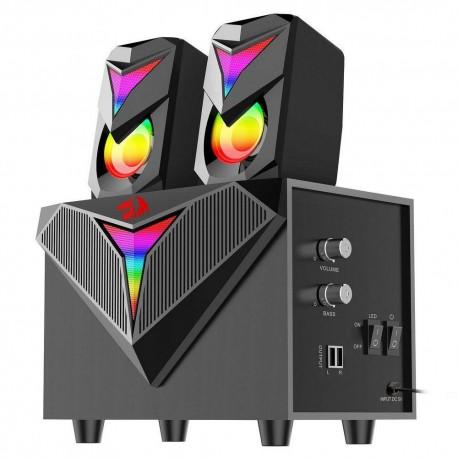 Caixa de Som Gamer Toccata RGB GS700 Preto - Redragon