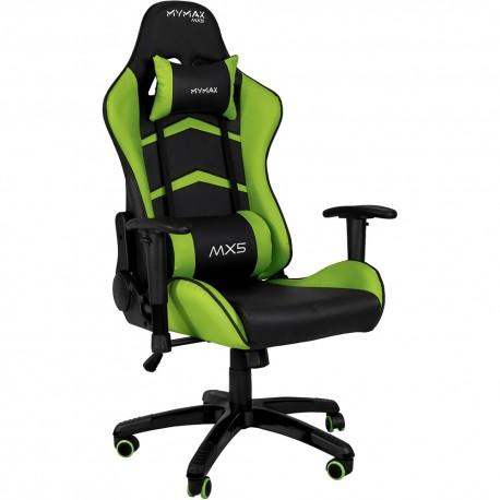 Cadeira Gamer MX5 Giratoria Preto/Verde MYMAX