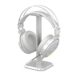 HEADSET GAMER REDRAGON LAMIA 2 LUNAR WHITE RGB AUDIO 7.1 + SUPORTE, H320W-RGB