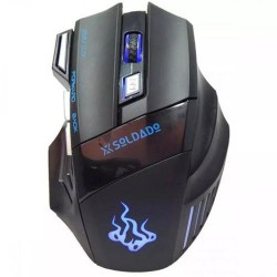 Mouse Gamer Usb 6 Botões 3000dpi X-soldado Gm-700 Infokit