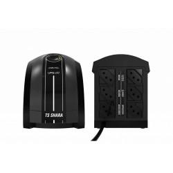 No break Ts Shara UPS Mini 600VA com entrada e saída de 115V CA preto