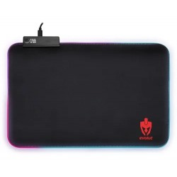 Mouse Pad Gamer Emborrachado Led Rgb Eg-410 Evolut