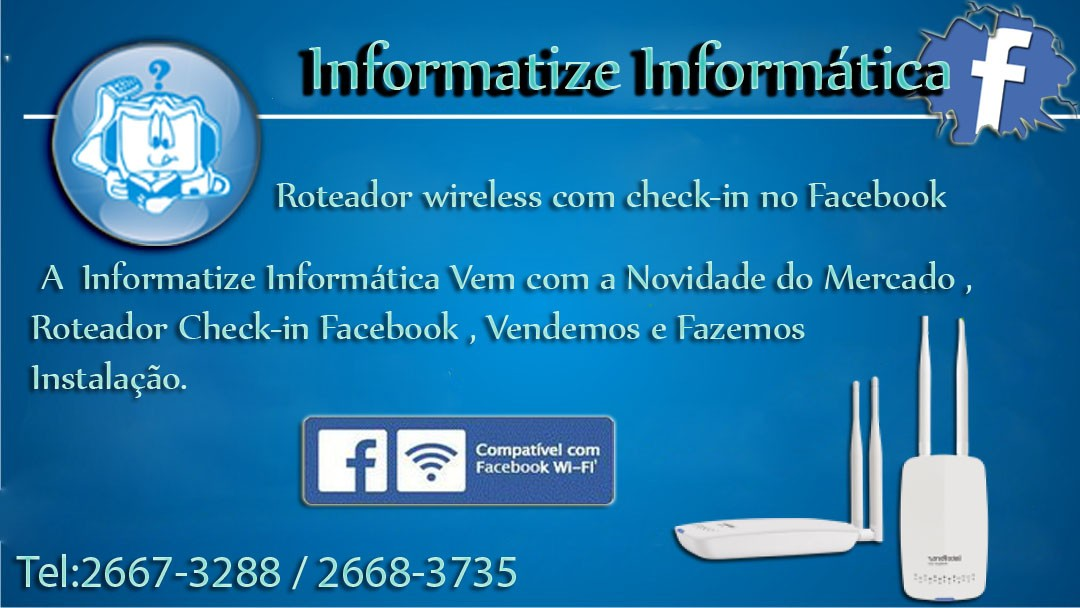 Roteador Wireless com check-in Facebook